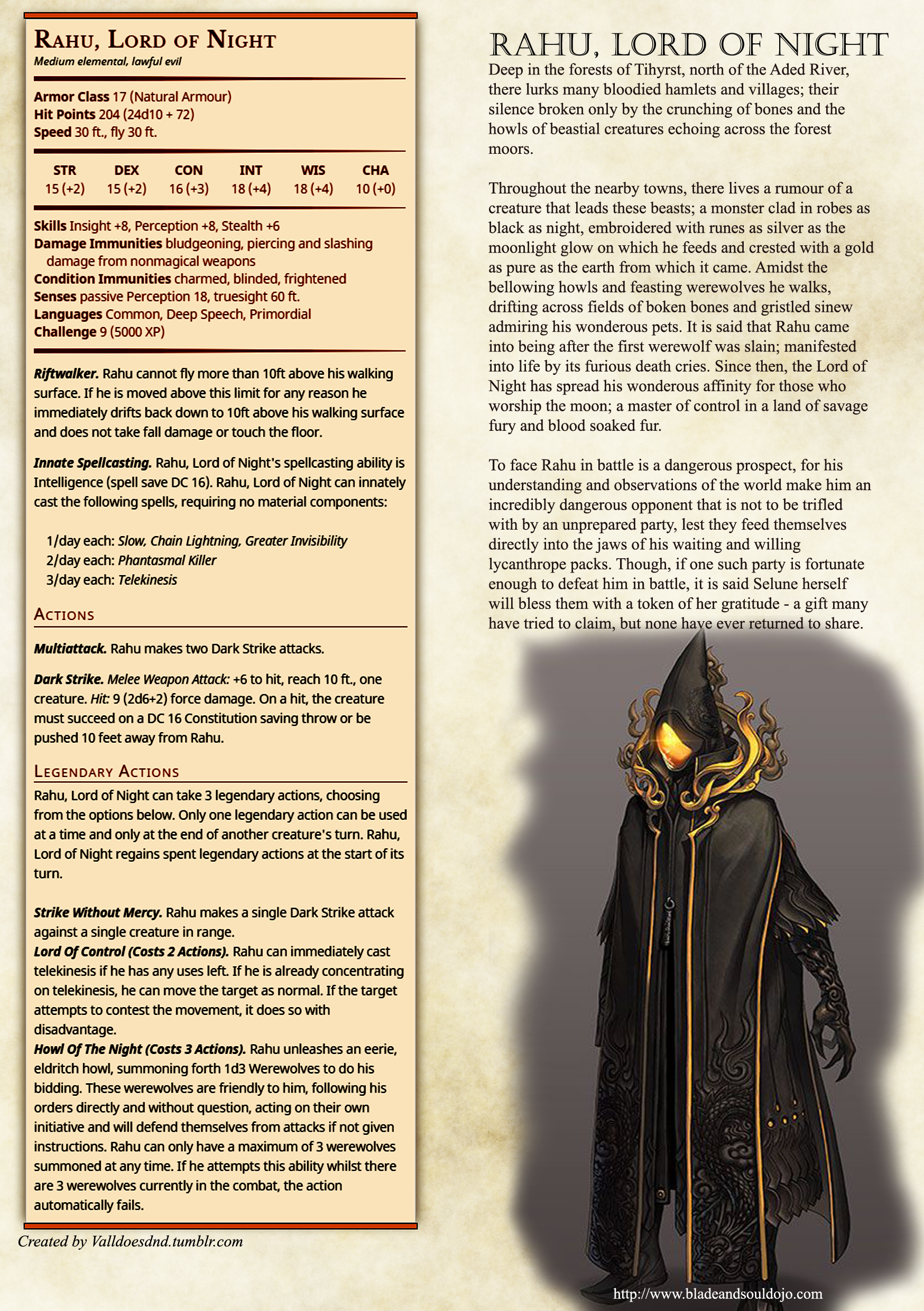 Rahu, Lord of Night Homebrew for D&D 5e | D&D in 2019 | Dnd
