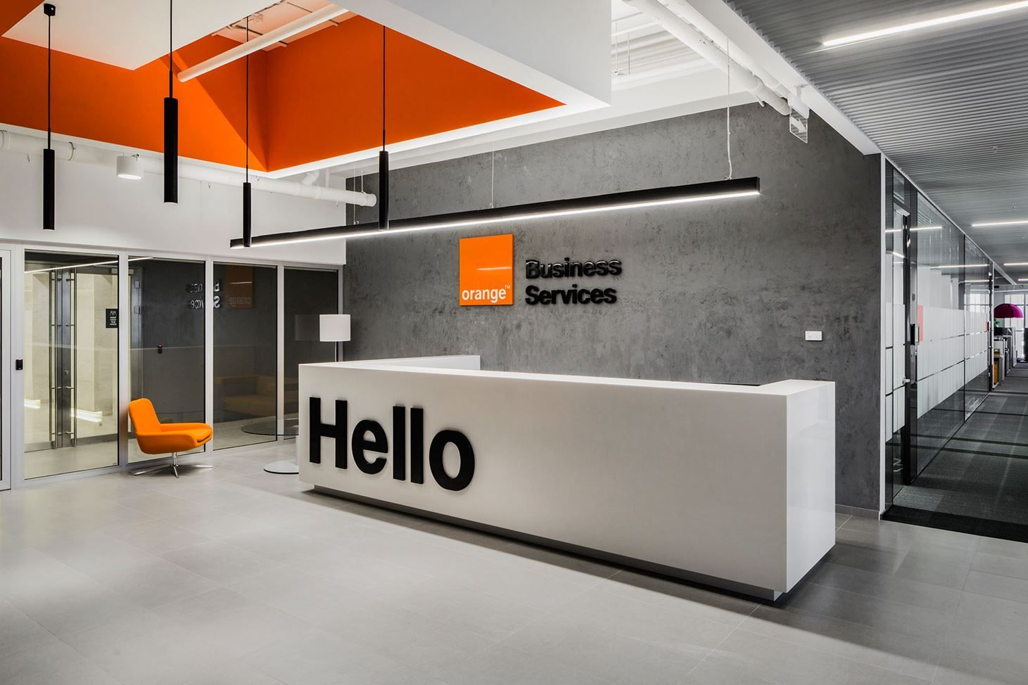 Orange business service office picture gallery for Modern office area