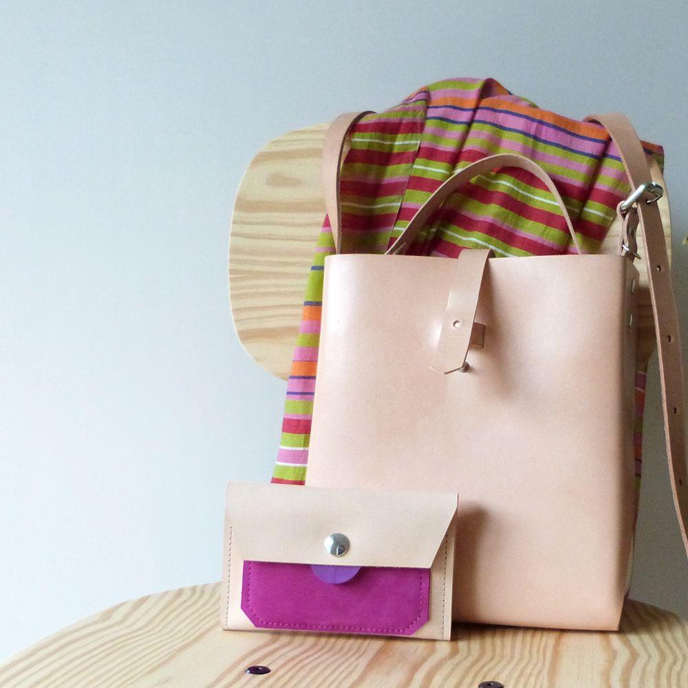 tangerine bag · leather & wool felt new wallet https://www.instagram.com/marielagdias/