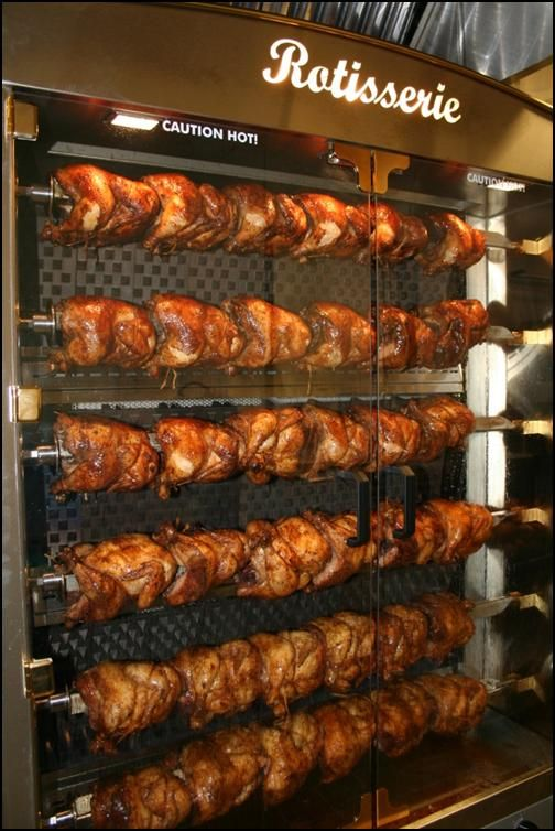 wow beautiful rotisserie chicken display from turlock usd. Black Bedroom Furniture Sets. Home Design Ideas