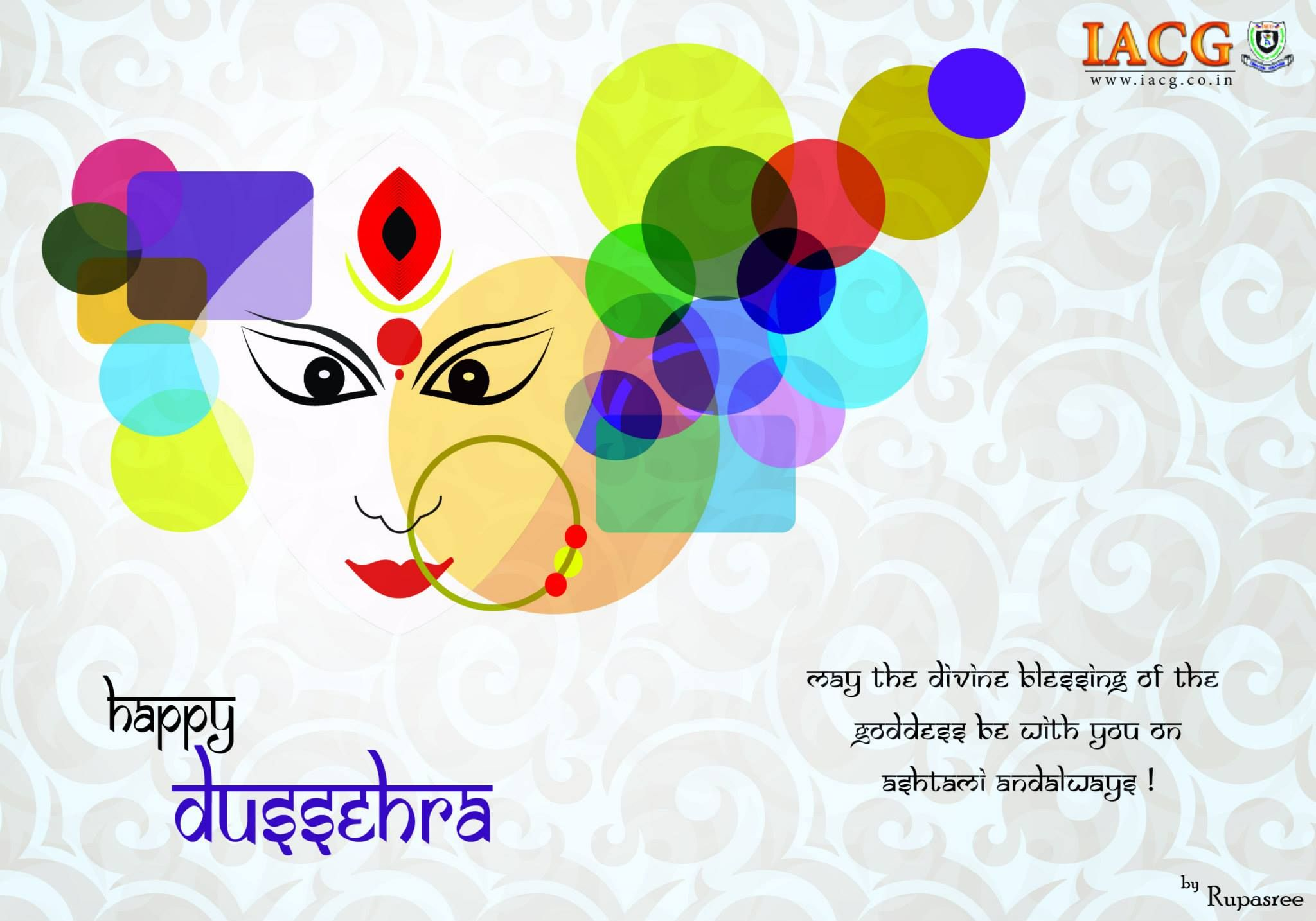 Dussehra Greeting Cards Done By Iacg Students Dusshera Greeting