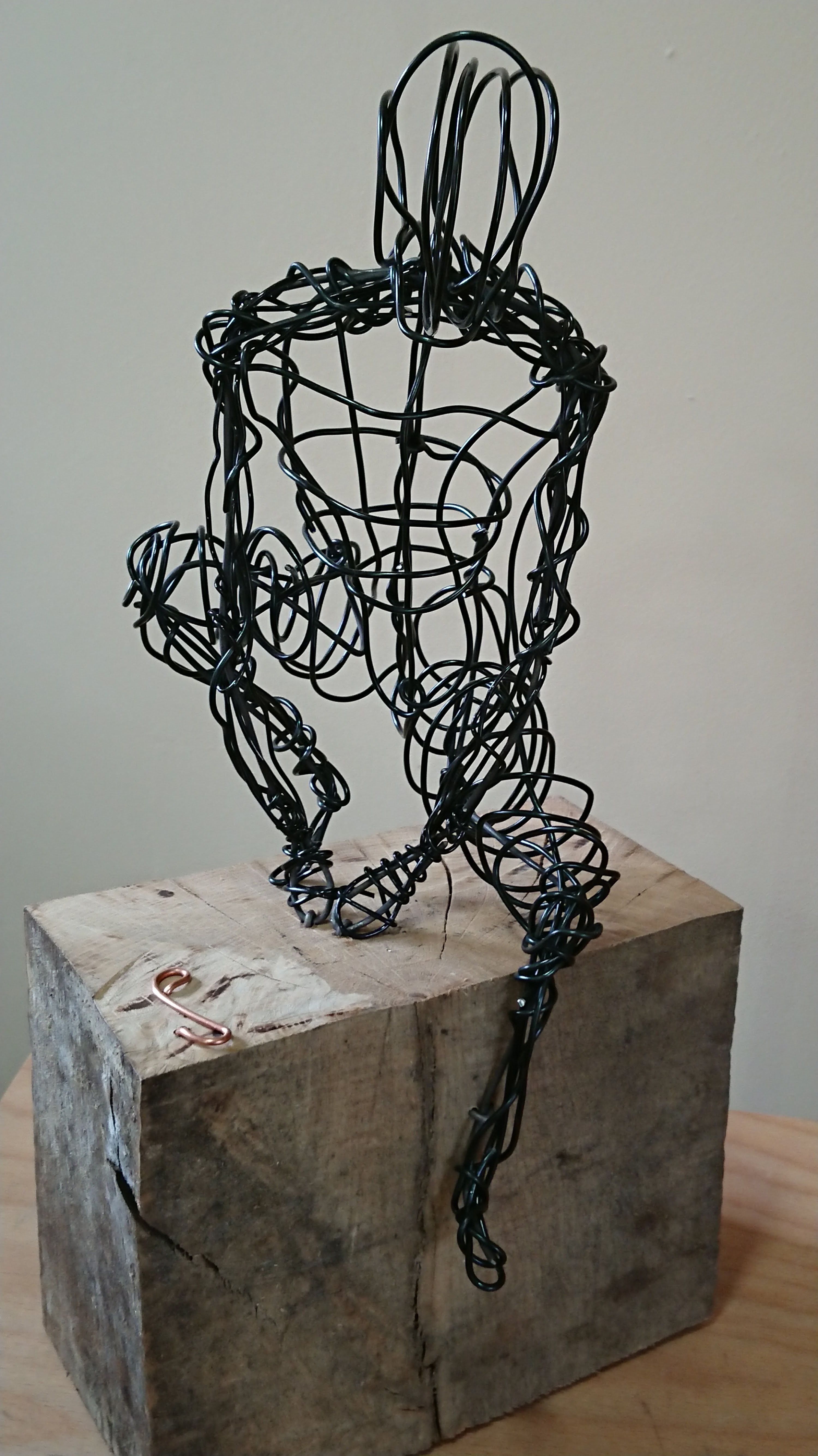 Wire Sculpture, Man sitting, Paul Joyner Sculpture Studio | Paul ...