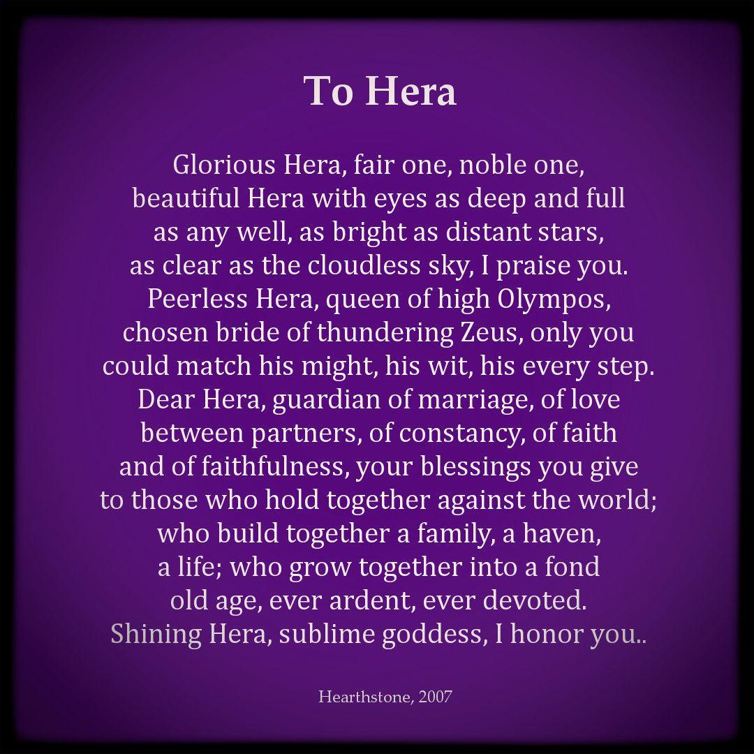 A Prayer To Hera Greek Goddess Of Marriage Queen Of Olympus Greek Gods Greek Gods And Goddesses Greek Mythology Quotes