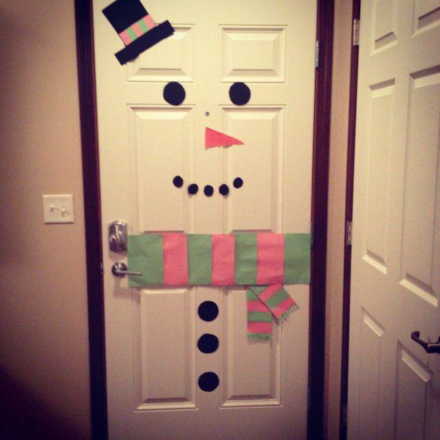 Snowman door.