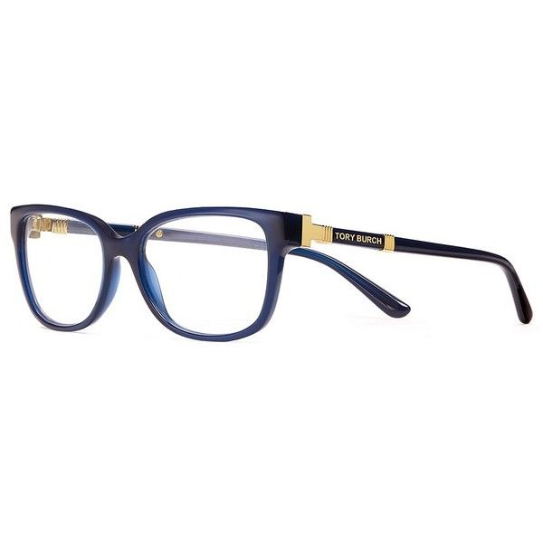 94b1c40712 Tory Burch Slim Square Eyeglasses (3.128.320 IDR) ❤ liked on Polyvore  featuring accessories