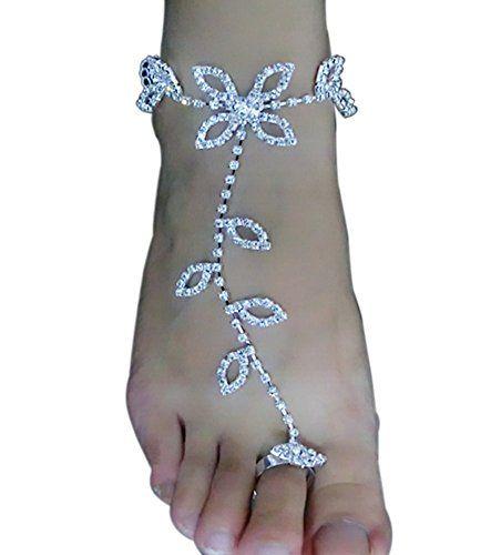 Crochet Sandals Beach Vintage Ankle Bracelet Foot Jewelry Barefoot Women