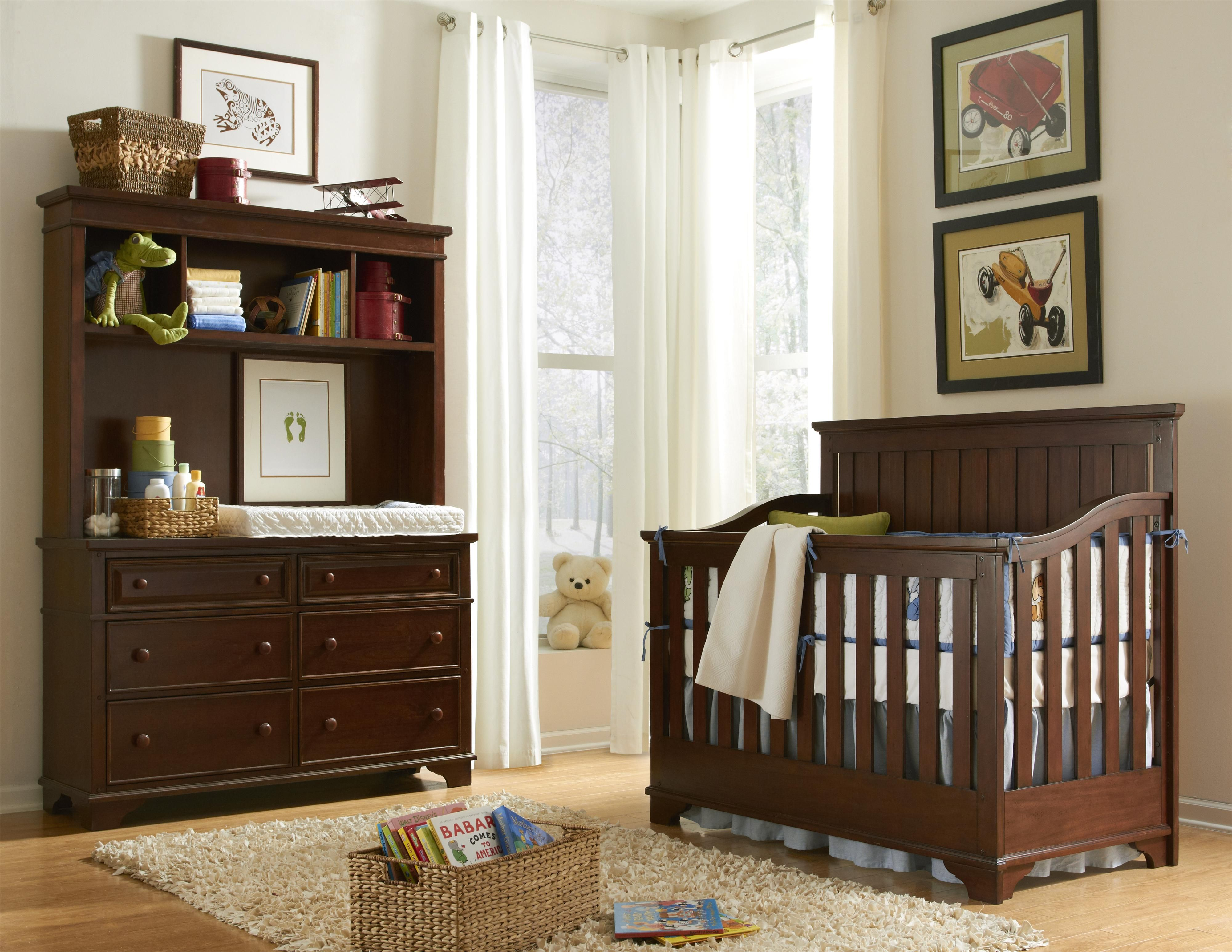 Legacy classic kids furniture dawsons ridge kids collection featuring convertible crib with bracket feet and slatted sides babysroom