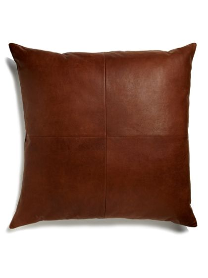 Stone & Aster Distressed Leather Floor Pillow and other leather furniture