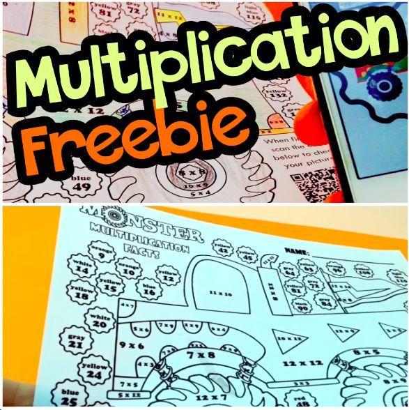500 Subscribers Multiplication Facts Worksheet Freebie ...