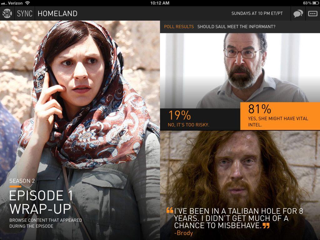 Showtime Sync Second Screen app for Showtime Original