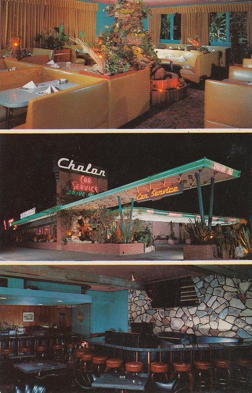 Chalon Restaurant Los Angeles California Googie Architecture Architecture Mid Century Architecture
