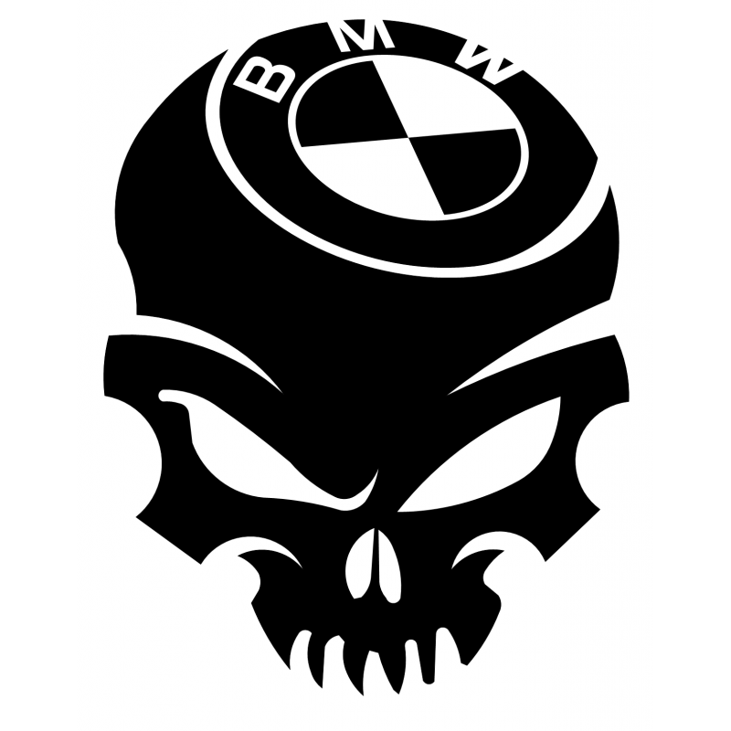 Stickers Skull BMW Voiture bmw, K75, R1200r