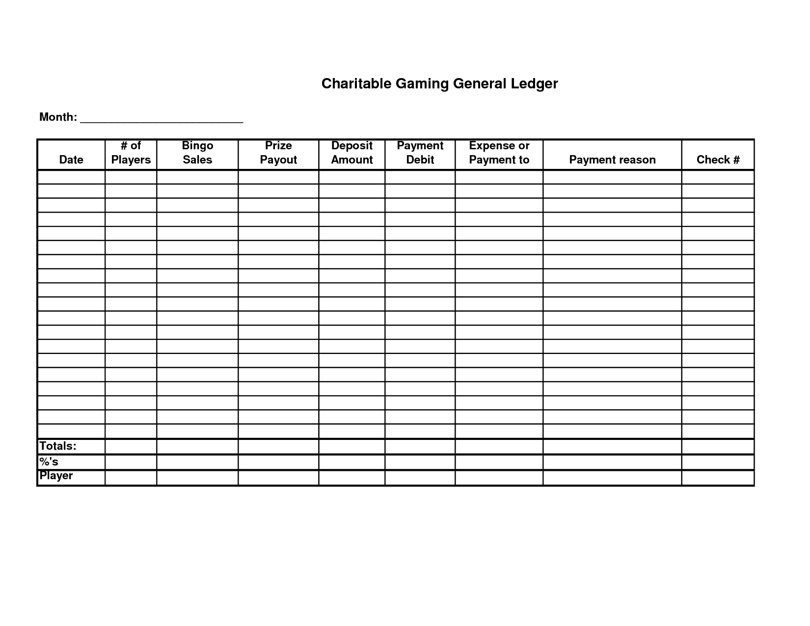 Free Printable General Ledger Sheet | Homemade Stuff | Free ...