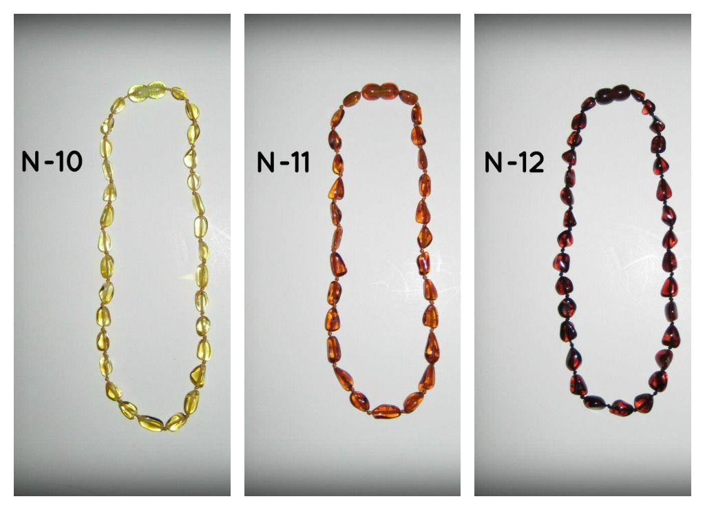 Baltic Amber Teething Necklaces ~ N-10; N-11; N-12 **$15 each