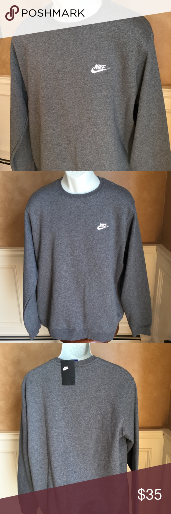 Mens Nike Club Crew Neck Fleece Nike Men Clothes Design Sweatshirt Shirt [ 1740 x 580 Pixel ]