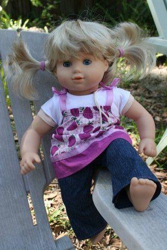 cute blonde American Girl blonde Bitty Baby Twin doll