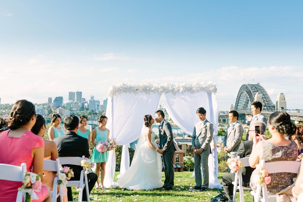 Sydney Observatory Hill Wedding Ceremony Beautiful Against The Iconic Harbour Bridge Photo By Sutoritera Www