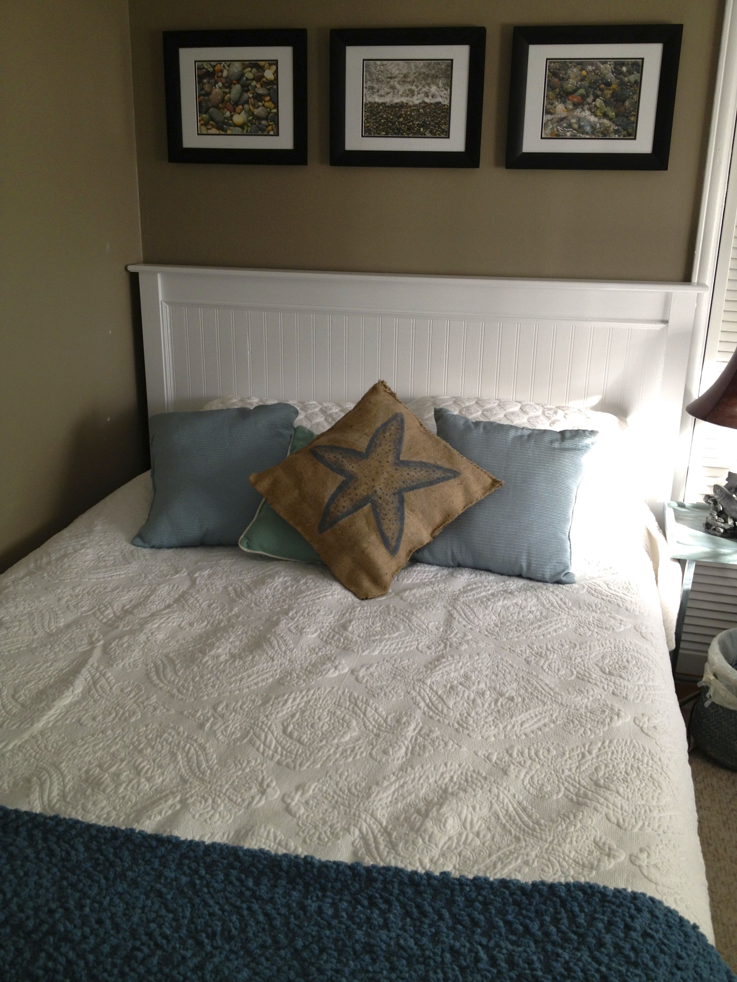 Mission Style Bedroom Furniture Plans Finished Bed Mission Style Headboard Makeover With Bead Board And