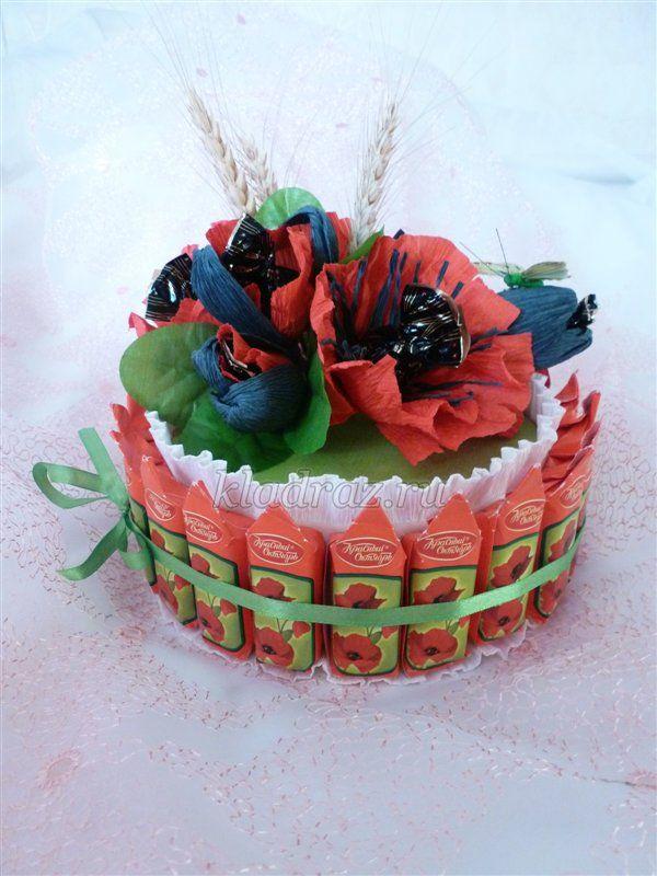 Мастер класс торт из конфет на юбилей
