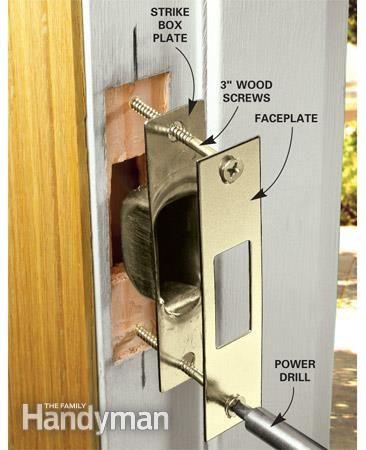 How To Reinforce Doors Entry Door And Lock Reinforcements Home