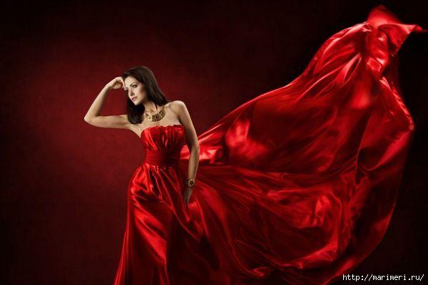 Девушка в красном платье oо