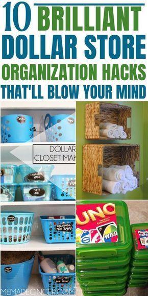 10 Mind Blowing Dollar Store Organization Hacks that are beyond Genius