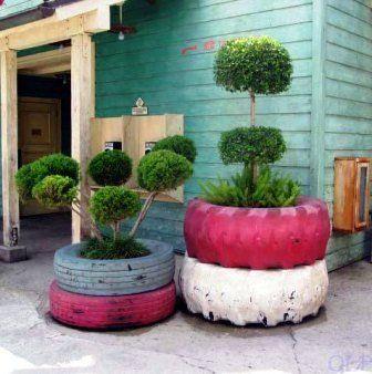 Recycled Tyres Garden