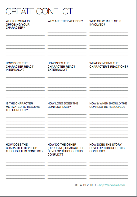 Story Conflict | writing worksheets | Writing worksheets, Creative ...