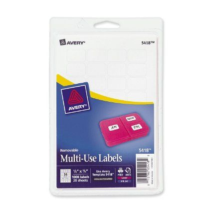 Avery Removable InkjetLaser Multipurpose Labels 12 x 34 White Pack Of 1008  by Office Depot & OfficeMax