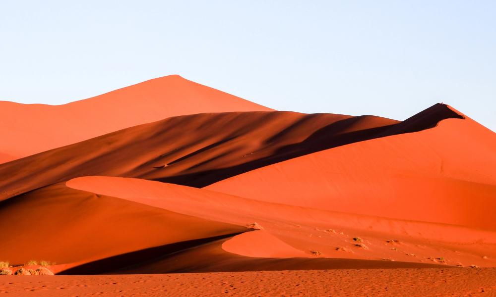 Sand Dunes At Sunrise In Sossusvlei Six Year Gap Year Dune Art Desert Painting Window Illustration