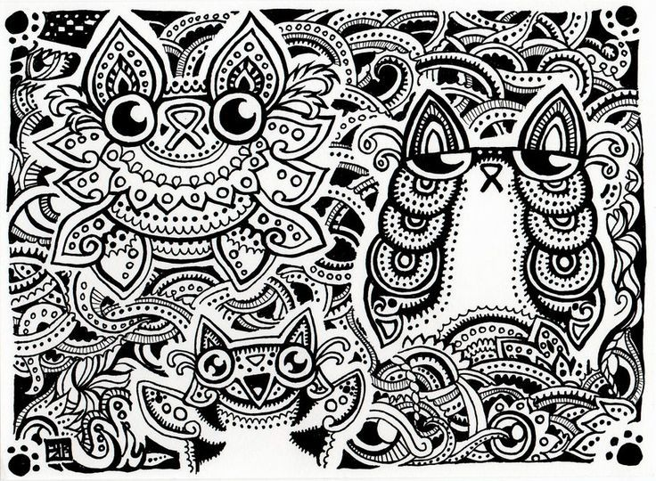 Trippy Coloring Page Detailed Coloring Pages Coloring Pages