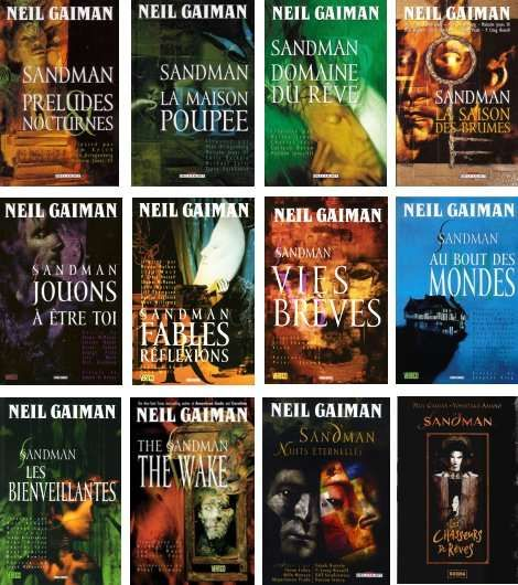 The Covers Of The Sandman Graphic Novels By Neil Gaiman With