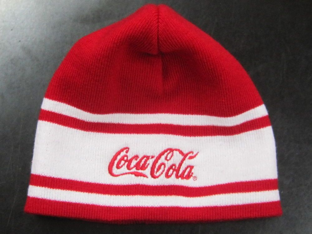 24 SOLD   Coca-Cola Beanie Hat Red   White- New  462822ab890