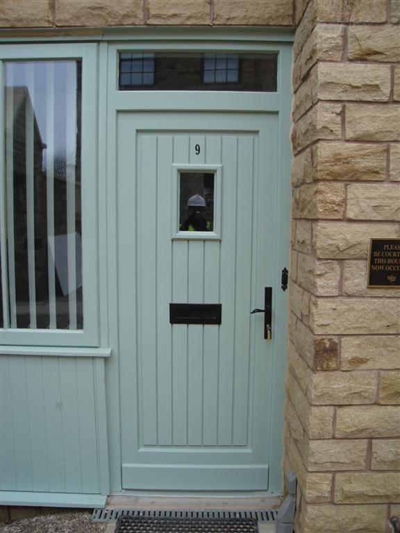 Pale Green Composite Front Door Laba Interior Design Doors Windows