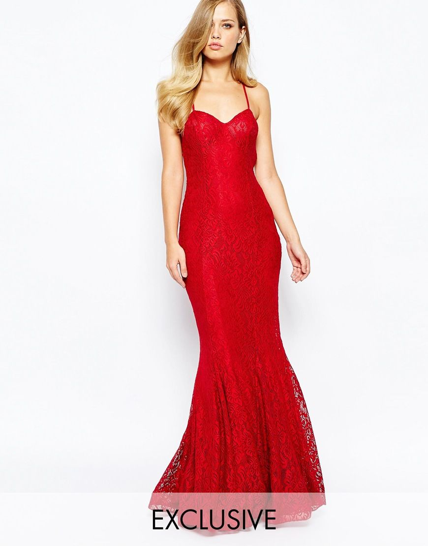 Forever unique poretta lace fishtail maxi dress the dress