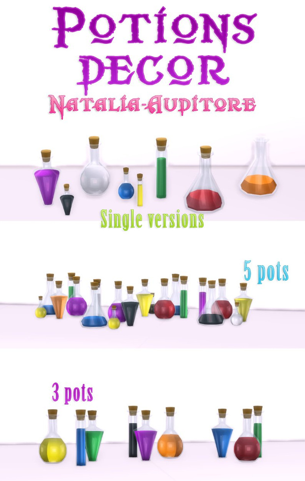 Potions decor   Sims 4 custom content, Sims 4 cc packs, Sims