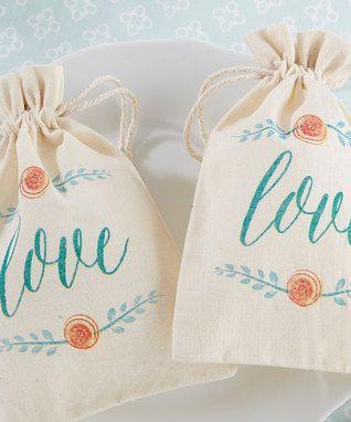 'Love' in Bloom Botanical Favor Bag - Set of 12