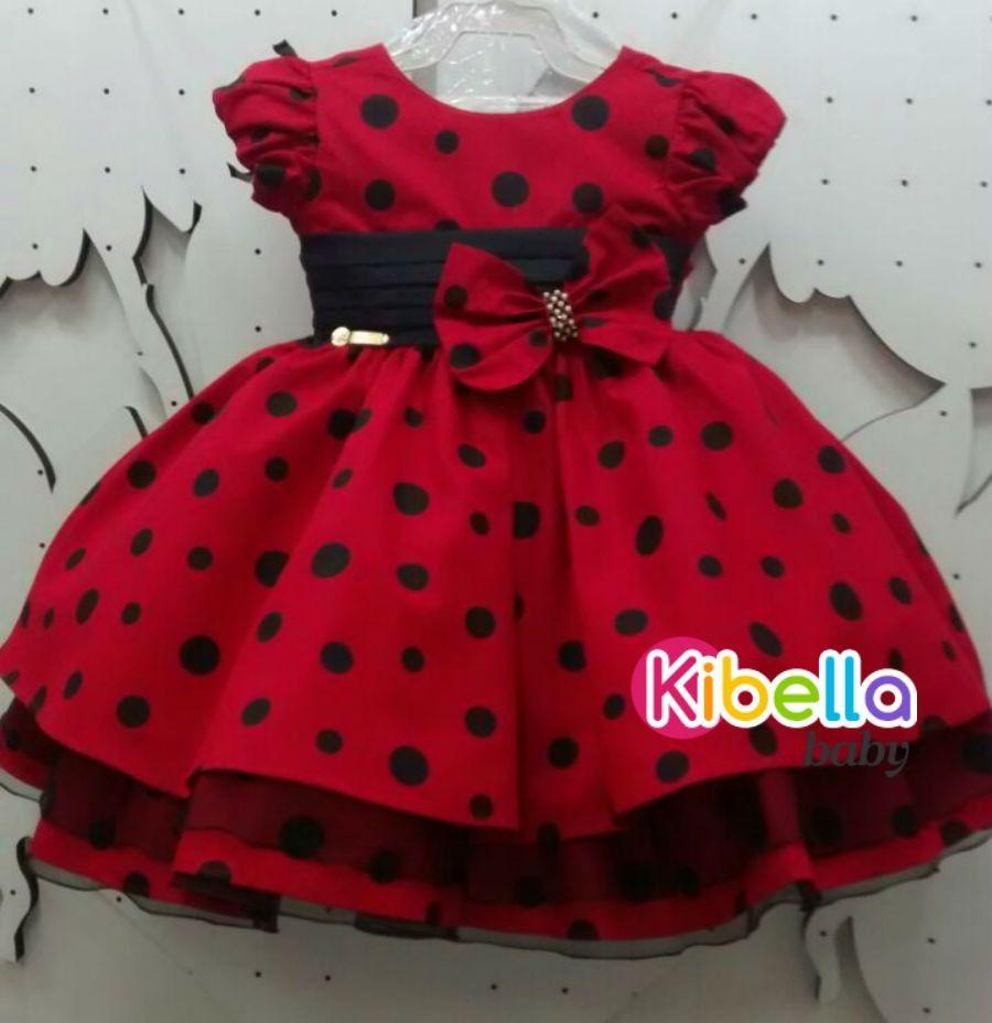 94d7ff976a3 Vestido Infantil Da Minnie Vermelho C  Laço - Tam. 1   3 - R  139