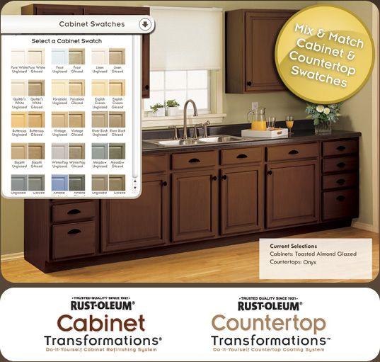 Virtual Tool Rust Oleum Cabinet Transformations A Revolutionary Kitchen Tra Kitchen Transformation Redo Kitchen Cabinets Cabinets And Countertops