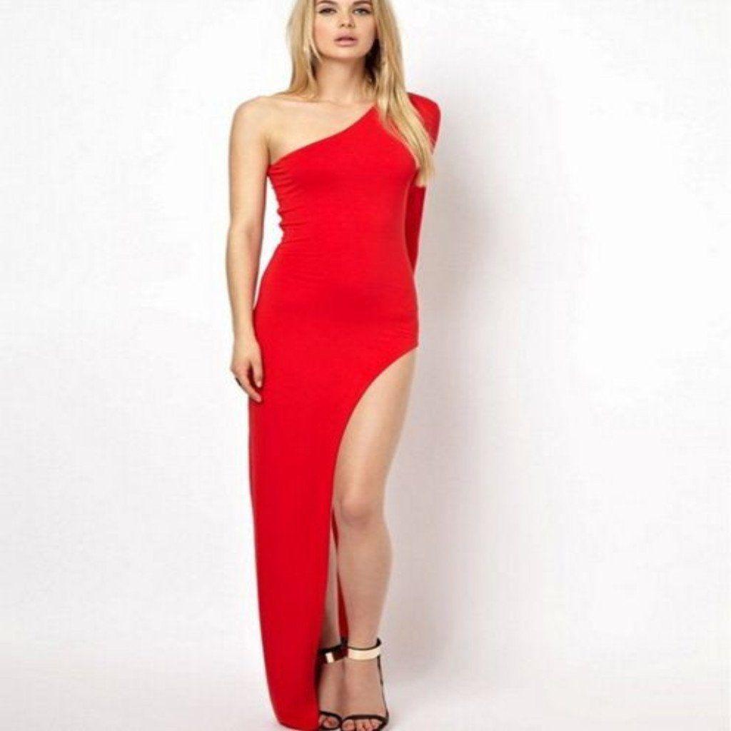 Off shoulder high slit women party dress products