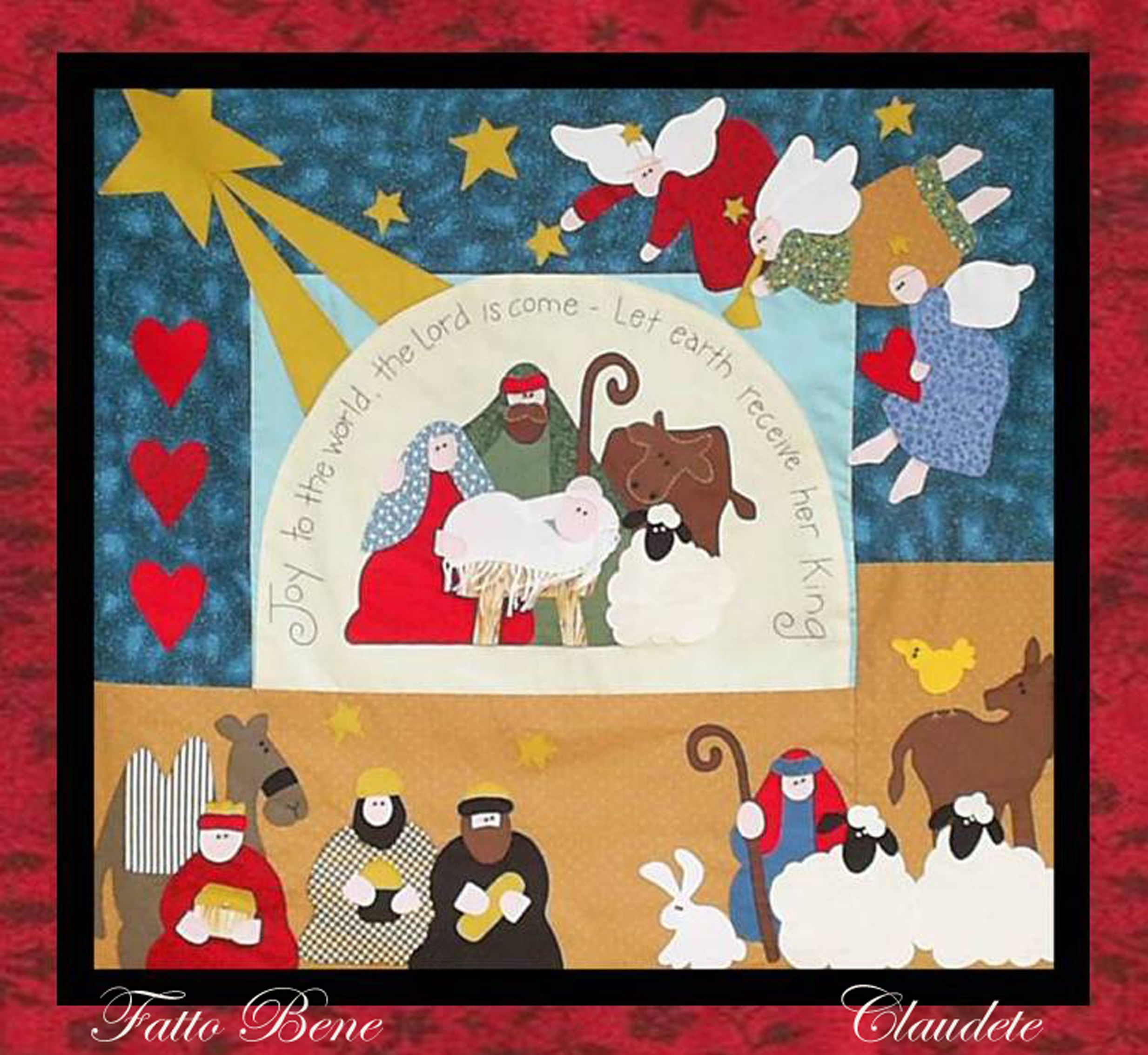 Joy to the world art to heart navidad y patrones - Patchwork en casa navidad patrones ...