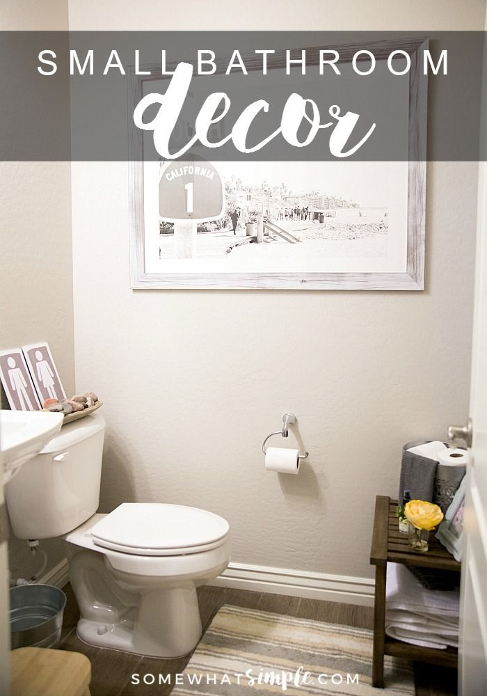 How To Decorate A Small Bathroom Small Bathroom Decor Bathroom Inspiration Decor Diy Bathroom Design Ways to decorate small bathroom