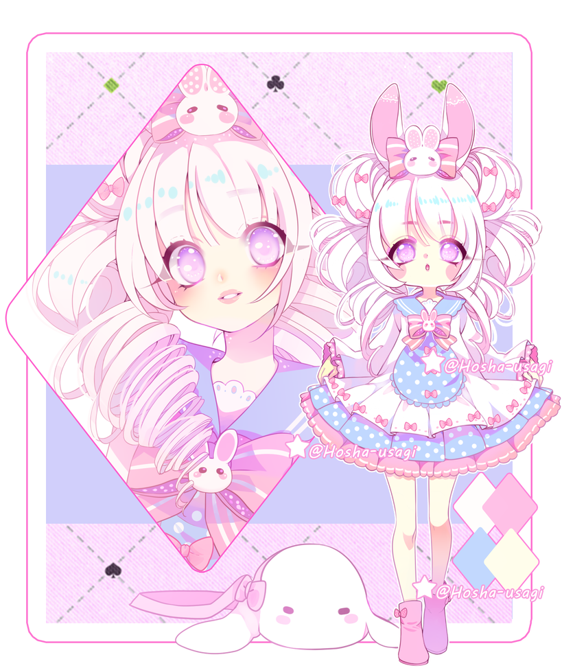 Adoptable Auction bunny kawaii 1 CLOSED by Hosha