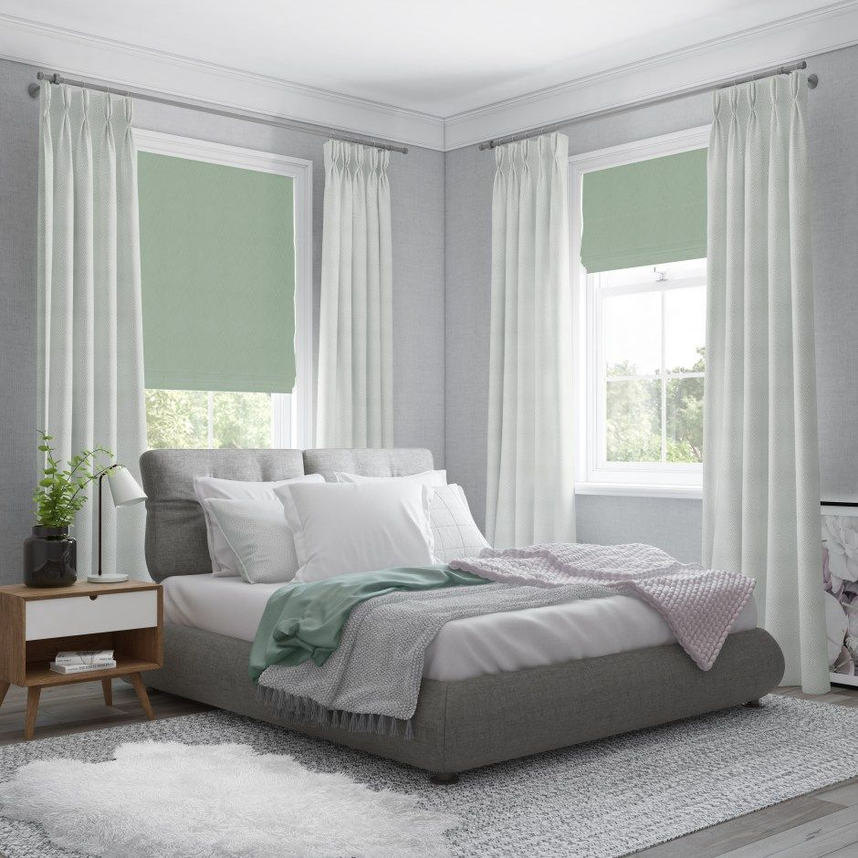 Neo Mint The Colour Of 2020 White Bedroom Decor Bedroom Window Dressing Curtains With Blinds