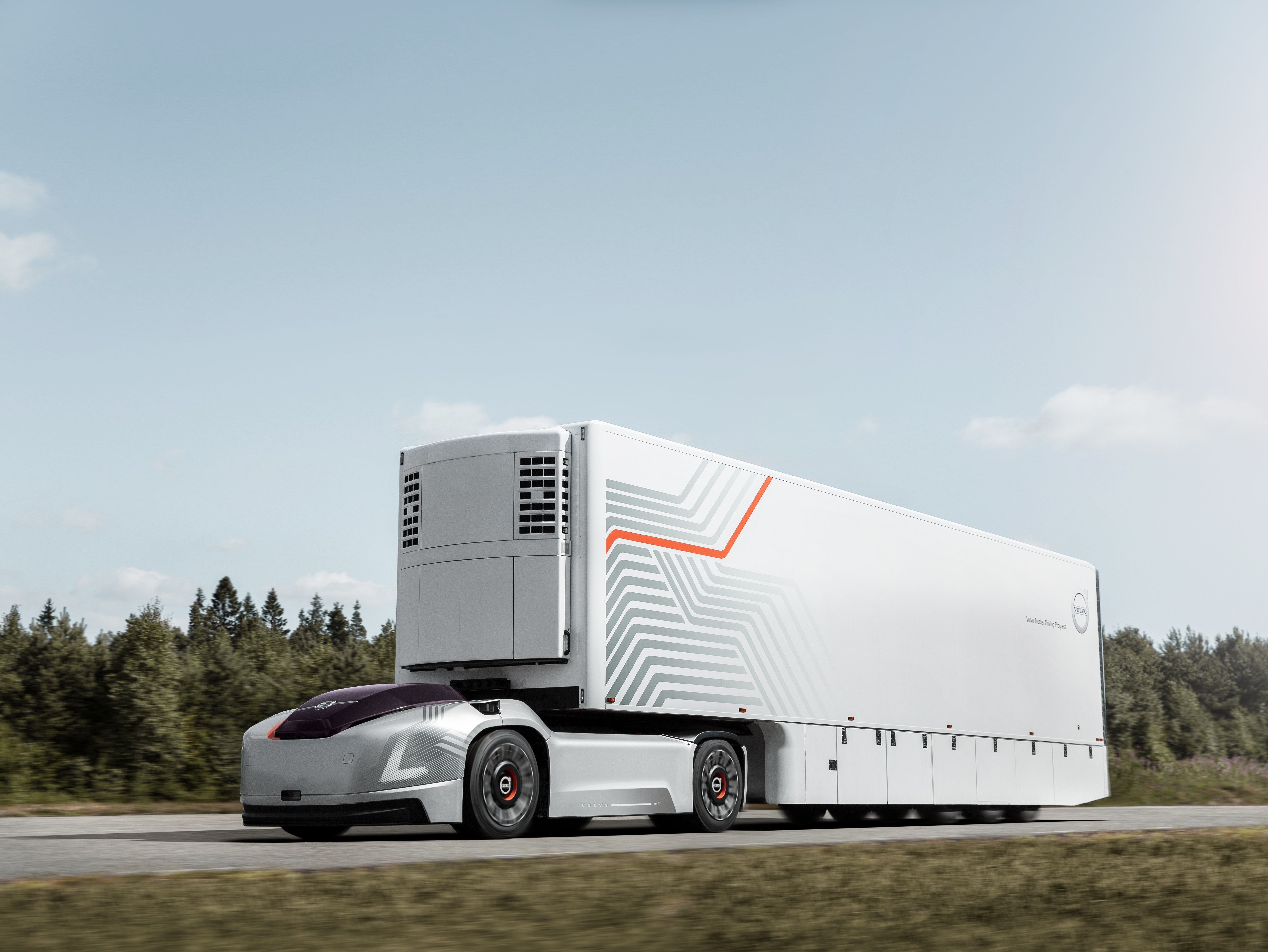 Volvo Unveils All Electric Autonomous Take On The Tesla Semi With
