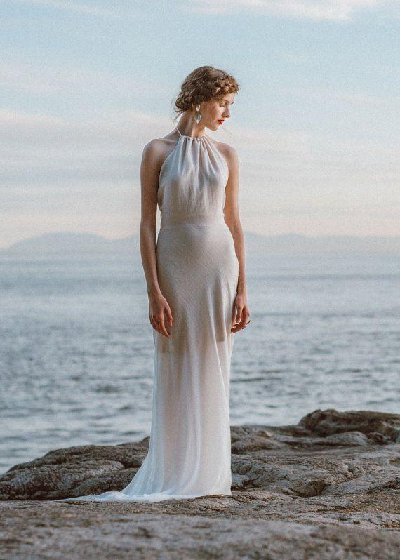 Modern Sheath Wedding Dress. A sophisticated backless wedding gown ...