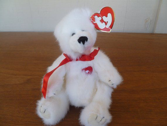 "Vintage Ty ""Attic Treasures, Amore With All My Heart"" Teddy Bear With Tags 1993"