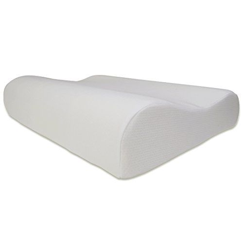 Fy Living Contour Memory Foam Cervical Pillow For Side Sleeper Antimicrobial Cover Queen 1 Pack Cervical Pillows Contour Pillow Memory Foam