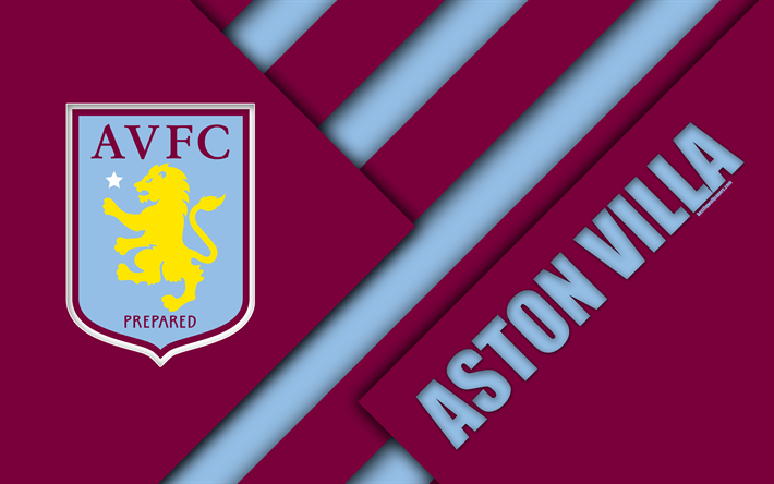 download wallpapers aston villa fc logo purple blue abstraction material design english. Black Bedroom Furniture Sets. Home Design Ideas