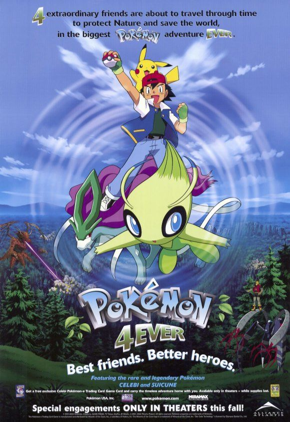 Pokemon 4Ever , starring . Pokemon movies, Pokemon